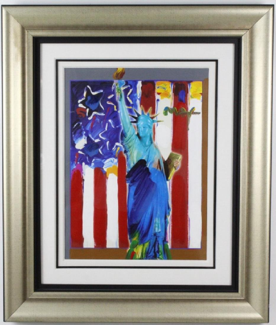 PETER MAX United We Stand Mixed Media Painting