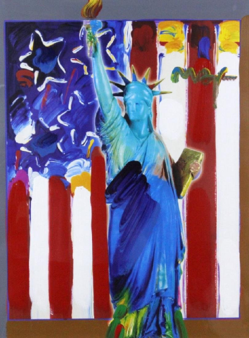 PETER MAX United We Stand Mixed Media Painting - 2