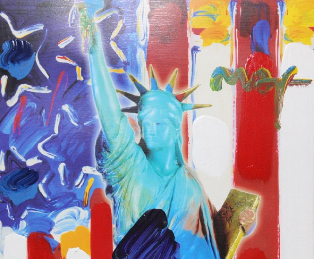 PETER MAX United We Stand Mixed Media Painting - 4