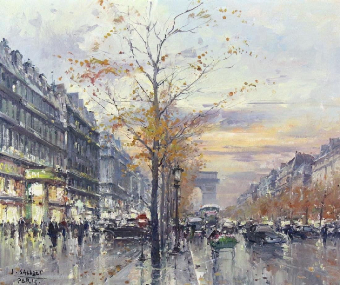 Jean Salabet French Landscape Oil Canvas Painting - 2