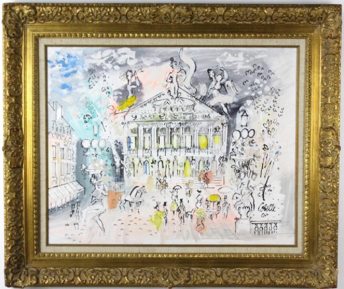 Charles Cobelle French Street Scene Oil Painting