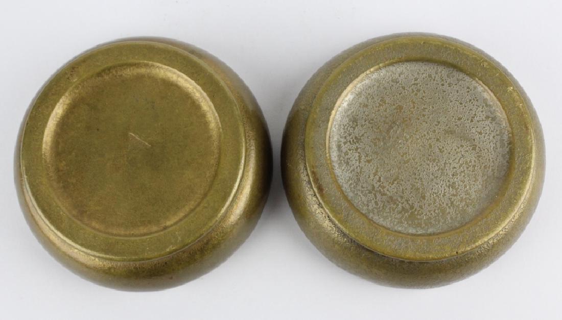 2 x Tiffany Studios Bronze Scalloped Finger Bowls - 5