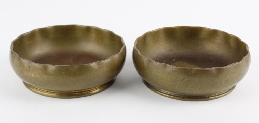 2 x Tiffany Studios Bronze Scalloped Finger Bowls - 6