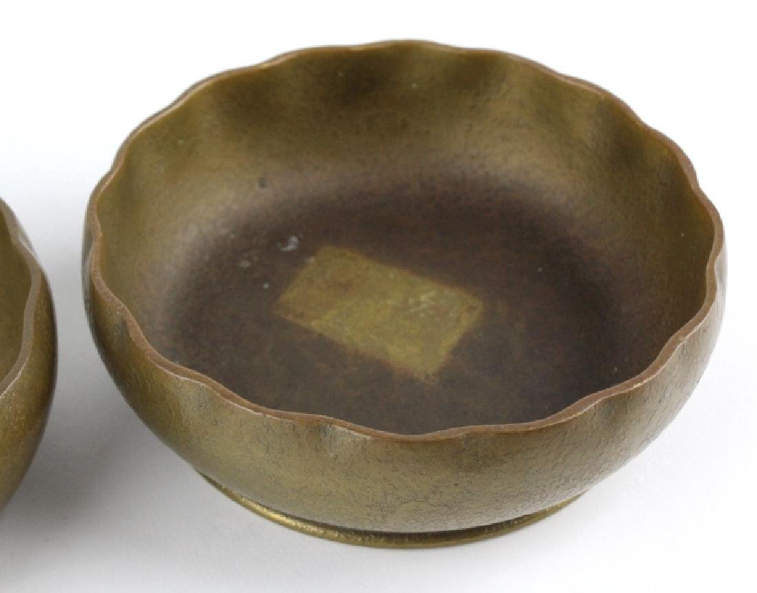 2 x Tiffany Studios Bronze Scalloped Finger Bowls - 7