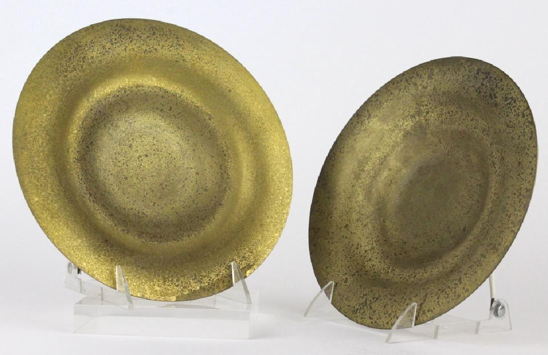 """PAIR of Tiffany Studios Bronze Dore Bowls 8 3/4"""""""