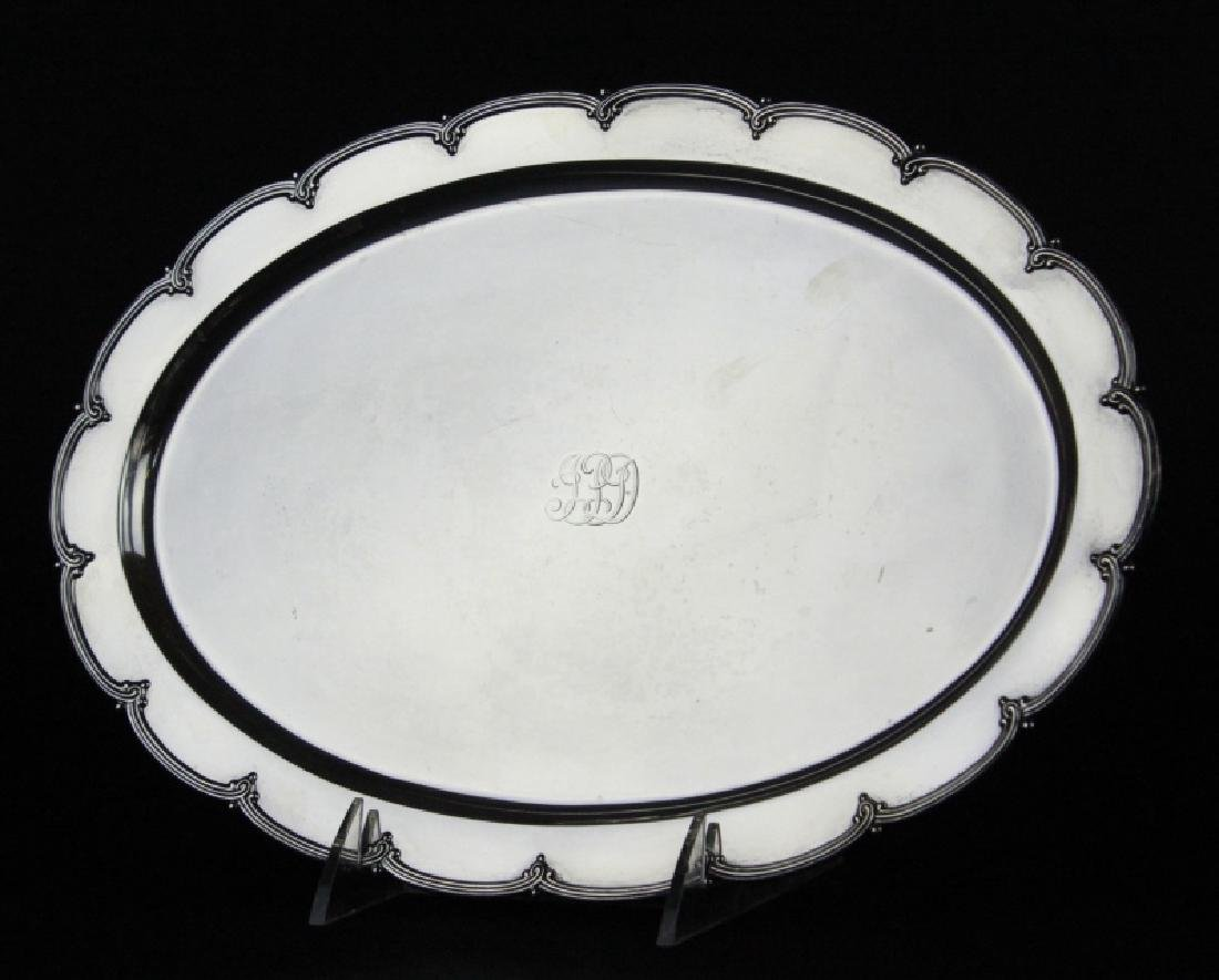 """Tiffany & Co Makers Sterling Silver 12"""" Tray 436g"""