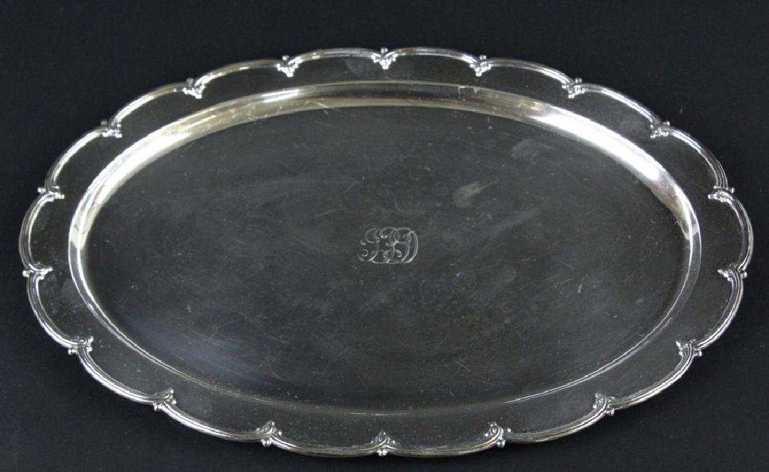 """Tiffany & Co Makers Sterling Silver 12"""" Tray 436g - 2"""