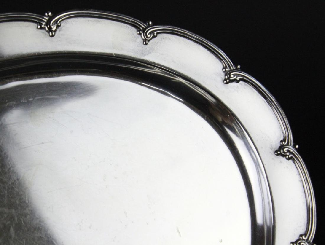 """Tiffany & Co Makers Sterling Silver 12"""" Tray 436g - 3"""