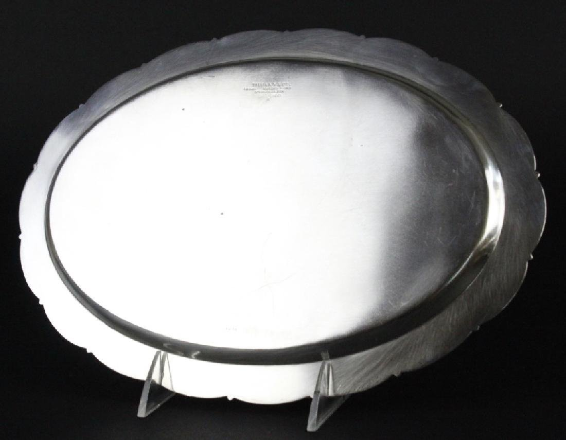 """Tiffany & Co Makers Sterling Silver 12"""" Tray 436g - 6"""
