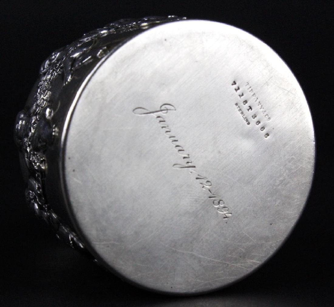 Rare TIFFANY & CO Sterling Silver Cherub Ink Well - 7