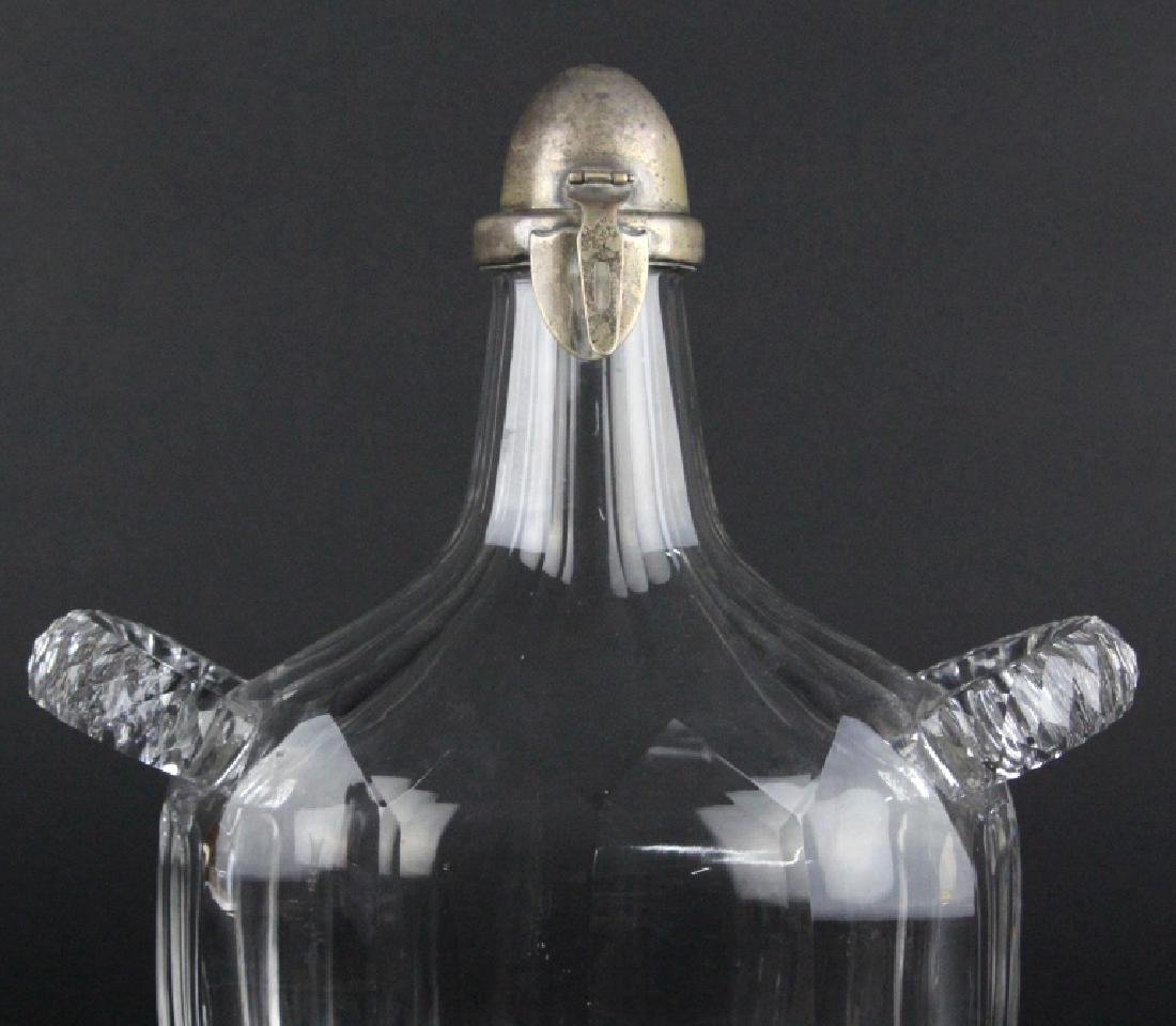 Tiffany & Co Sterling Silver Cut Glass Decanter - 2