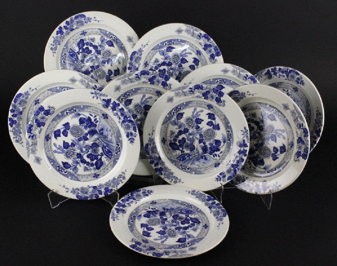 Tiffany & Co Peony Porcelain Lunch & Dinner Plates - 4
