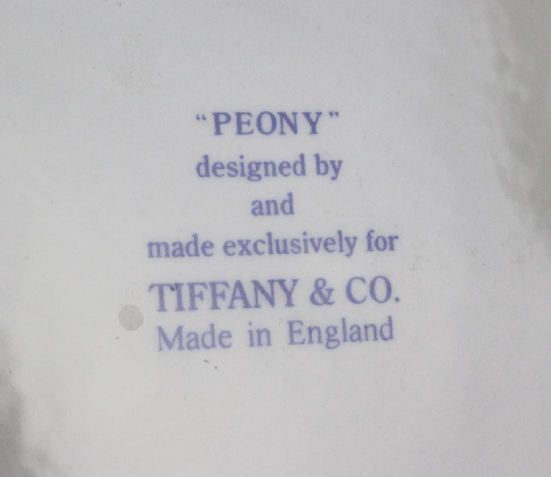 Tiffany & Co Peony Porcelain Lunch & Dinner Plates - 6