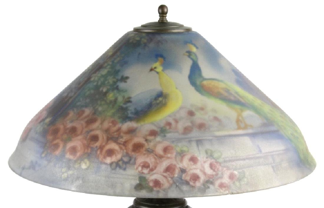 Pairpoint Reverse Painted Peacock Table Lamp - 2