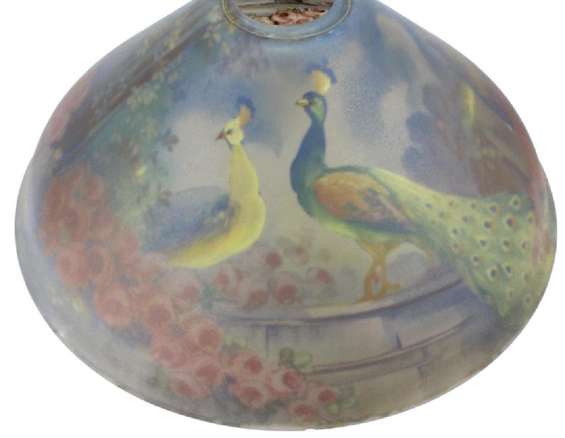 Pairpoint Reverse Painted Peacock Table Lamp - 9