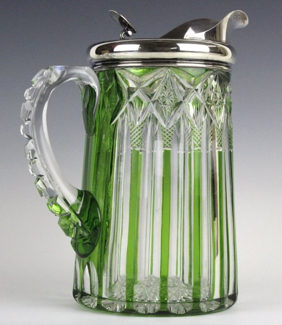 Dorflinger Chester Green Cut To Clear Pitcher RARE - 6