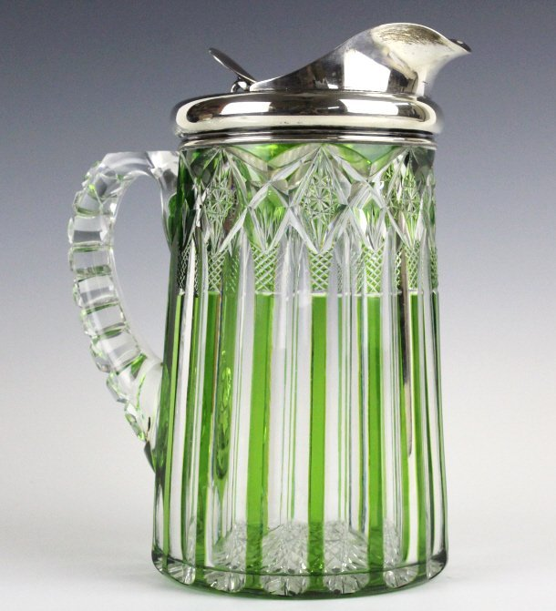 Dorflinger Chester Green Cut To Clear Pitcher RARE - 7