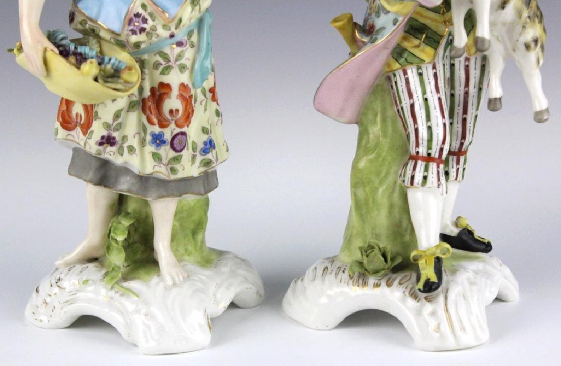 Pair Sitzendorf Figural Porcelain Candlesticks - 3