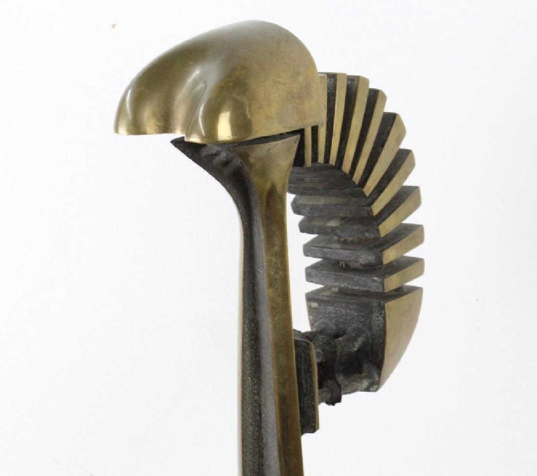 """Abstract Modernist 28"""" Bronze Sculpture MODERN - 7"""