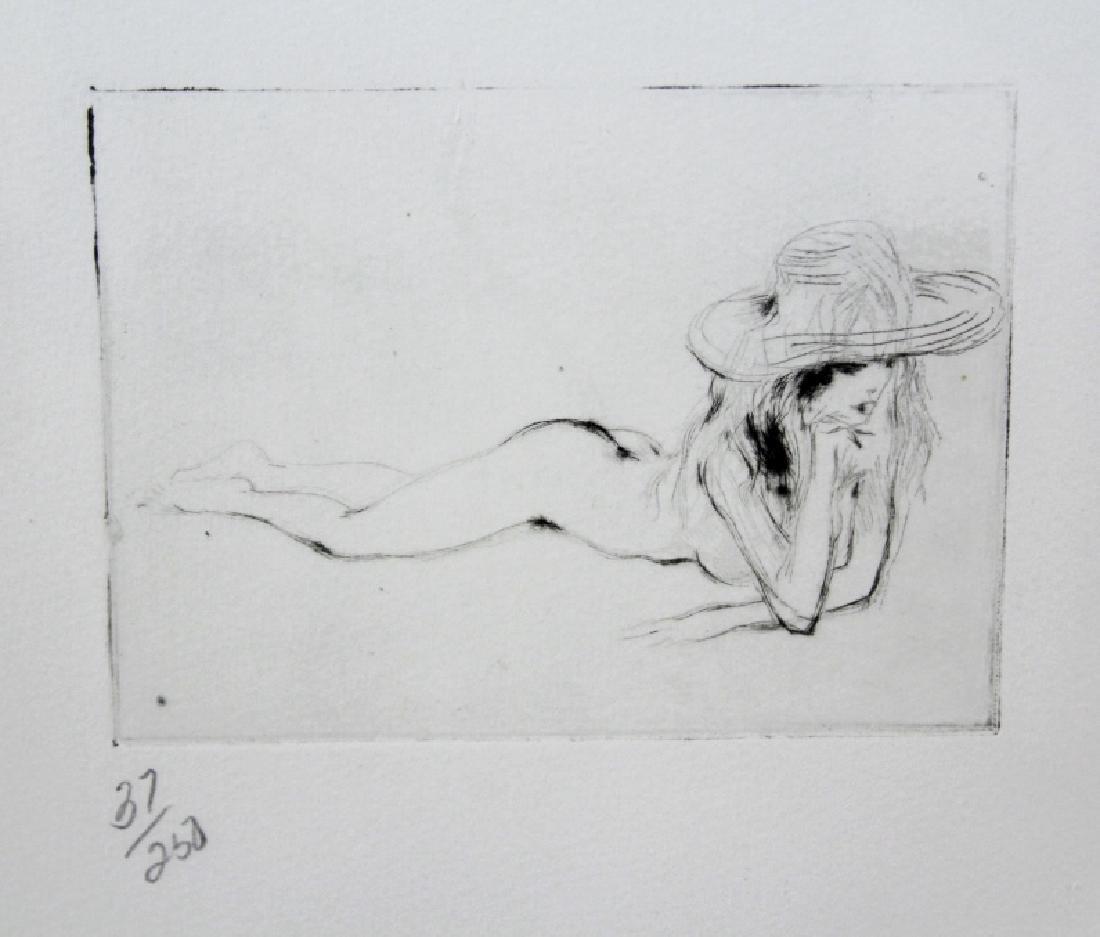 Pencil Signed Leroy Neiman Six Nudes L/E Etching - 5