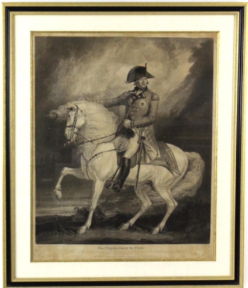 J. Ward 19th Century Engraving Majesty George III