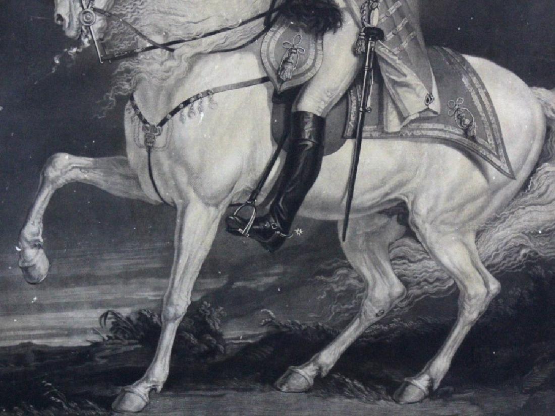 J. Ward 19th Century Engraving Majesty George III - 5