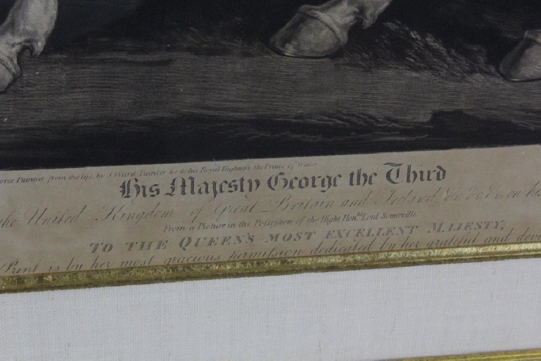 J. Ward 19th Century Engraving Majesty George III - 6