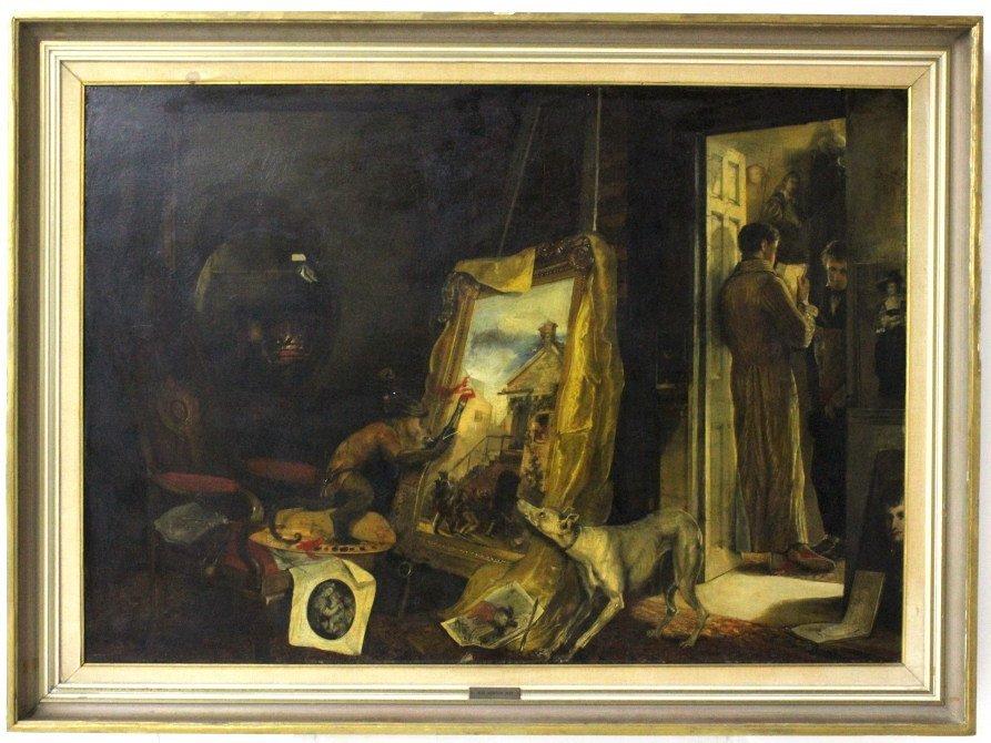 Andrew Morton United Kingdom Monkey Oil Painting