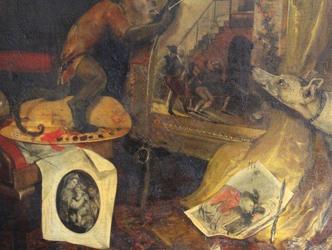 Andrew Morton United Kingdom Monkey Oil Painting - 2
