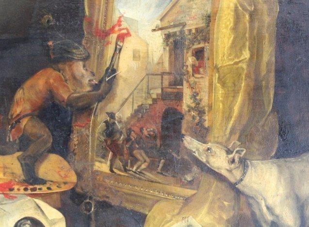Andrew Morton United Kingdom Monkey Oil Painting - 3