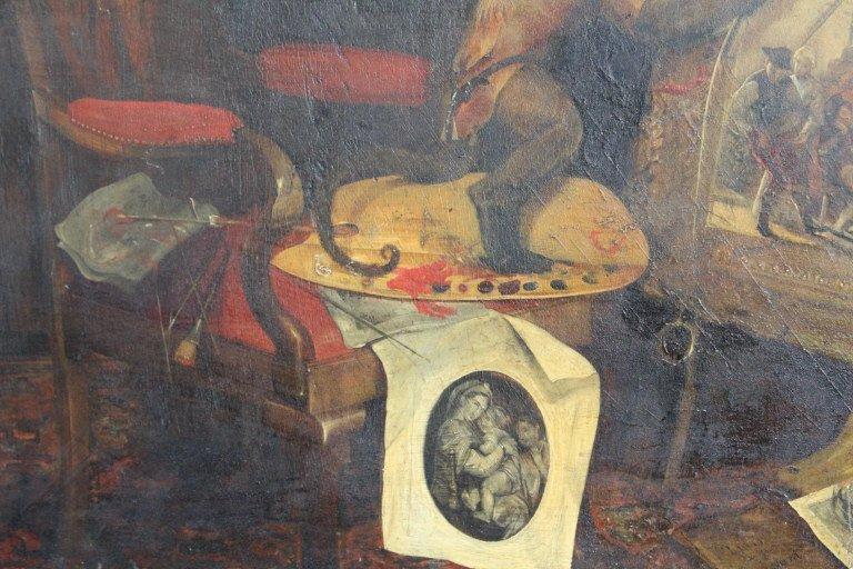 Andrew Morton United Kingdom Monkey Oil Painting - 5