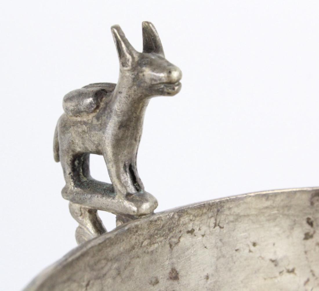 Antique Spanish Colonial Era 17c Silver Keru Bowl - 3