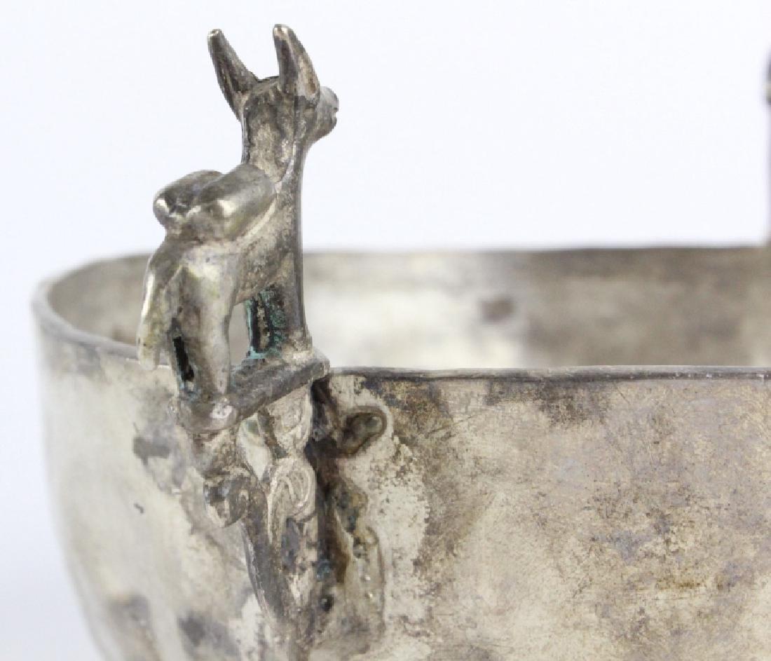 Antique Spanish Colonial Era 17c Silver Keru Bowl - 4