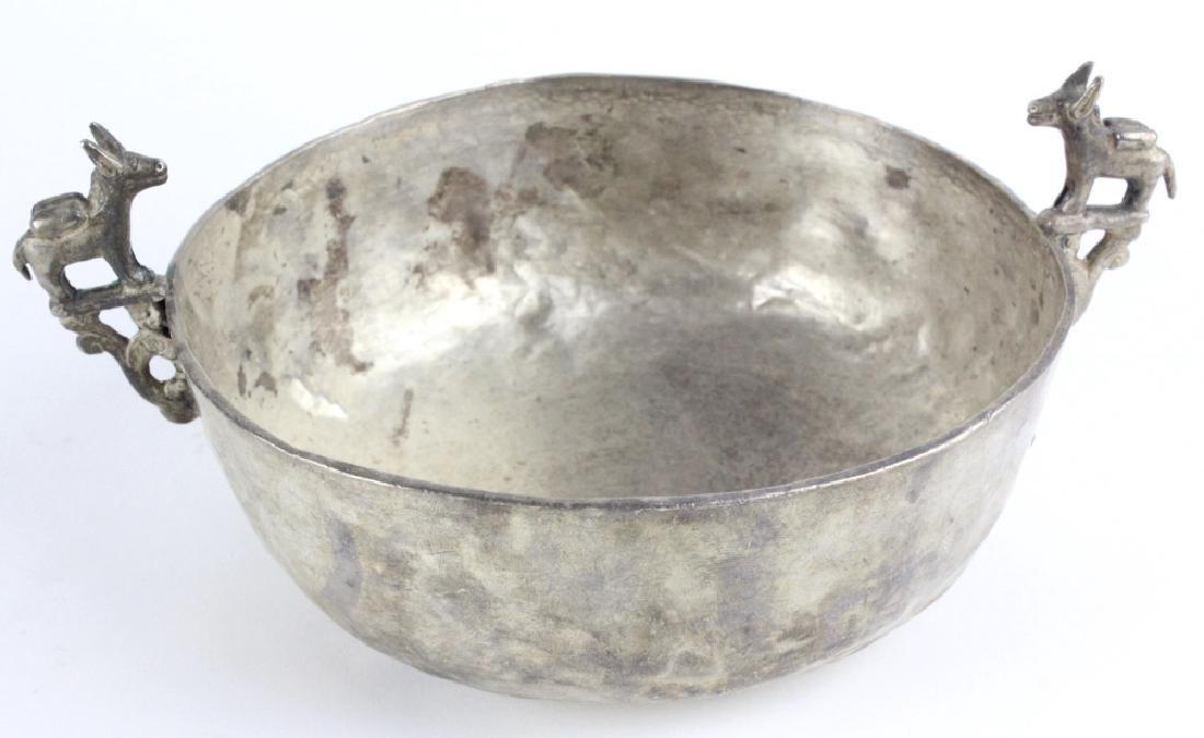 Antique Spanish Colonial Era 17c Silver Keru Bowl - 5