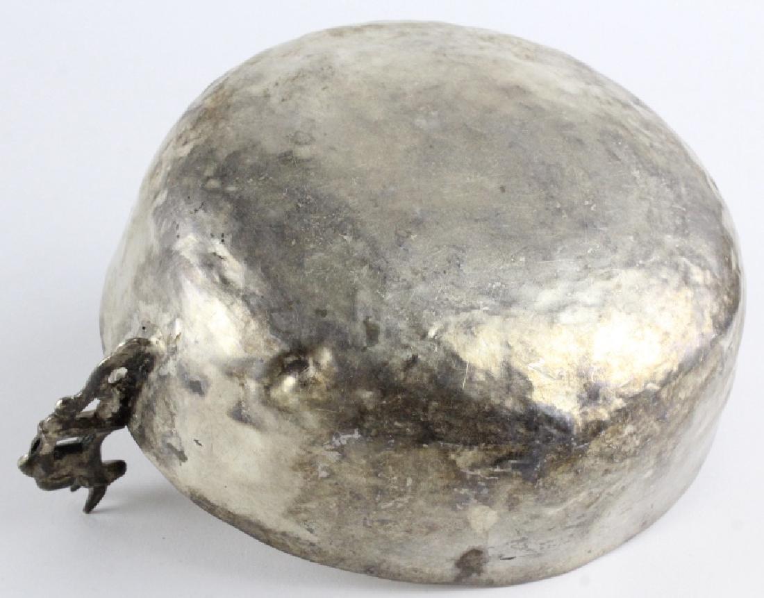 Antique Spanish Colonial Era 17c Silver Keru Bowl - 6