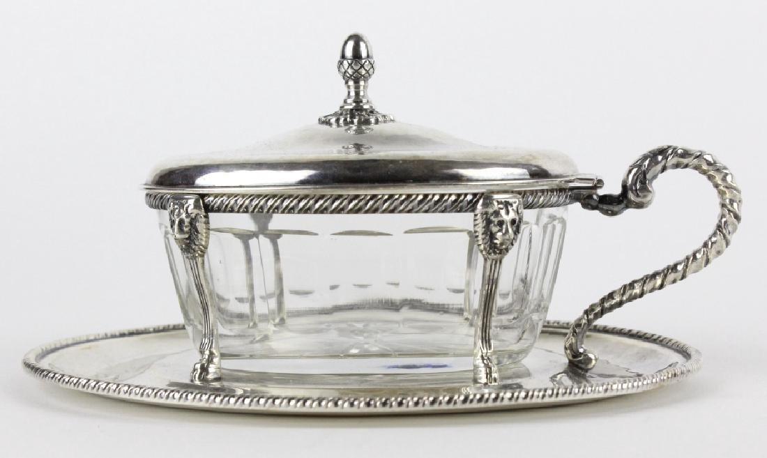 BUCCELLATI Sterling Silver & Crystal Sardine Bowl
