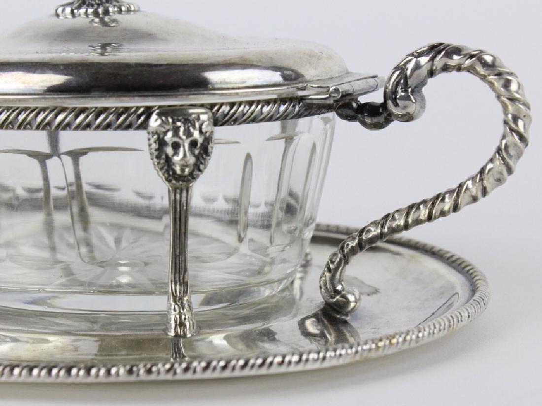 BUCCELLATI Sterling Silver & Crystal Sardine Bowl - 2