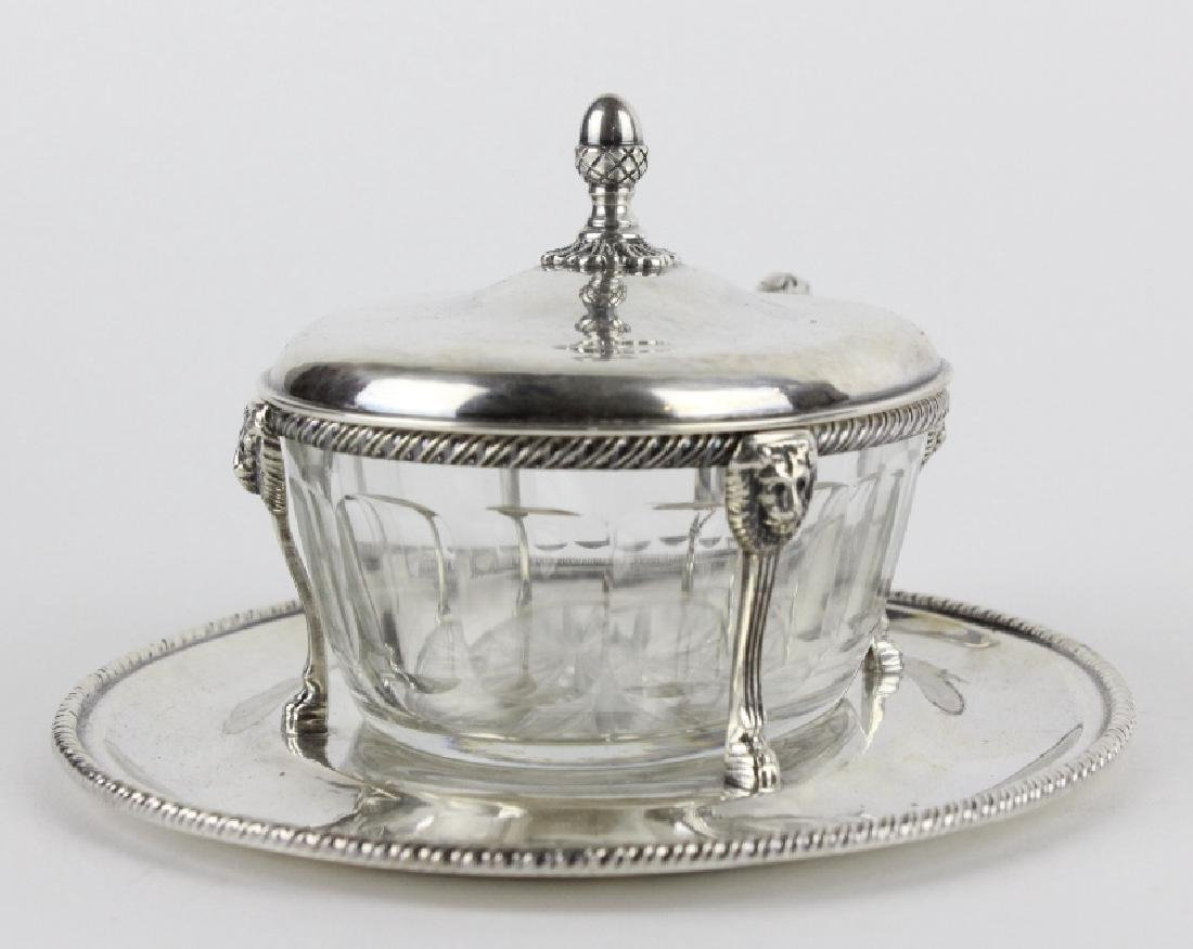 BUCCELLATI Sterling Silver & Crystal Sardine Bowl - 3
