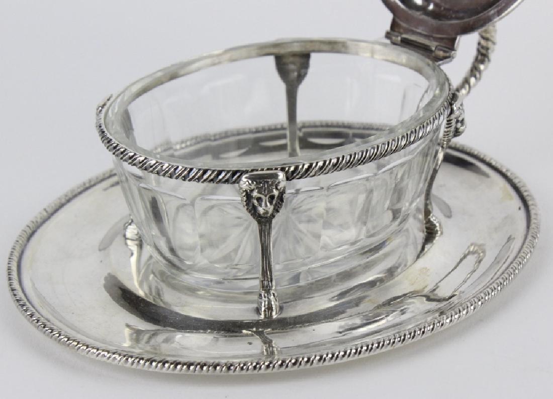 BUCCELLATI Sterling Silver & Crystal Sardine Bowl - 5