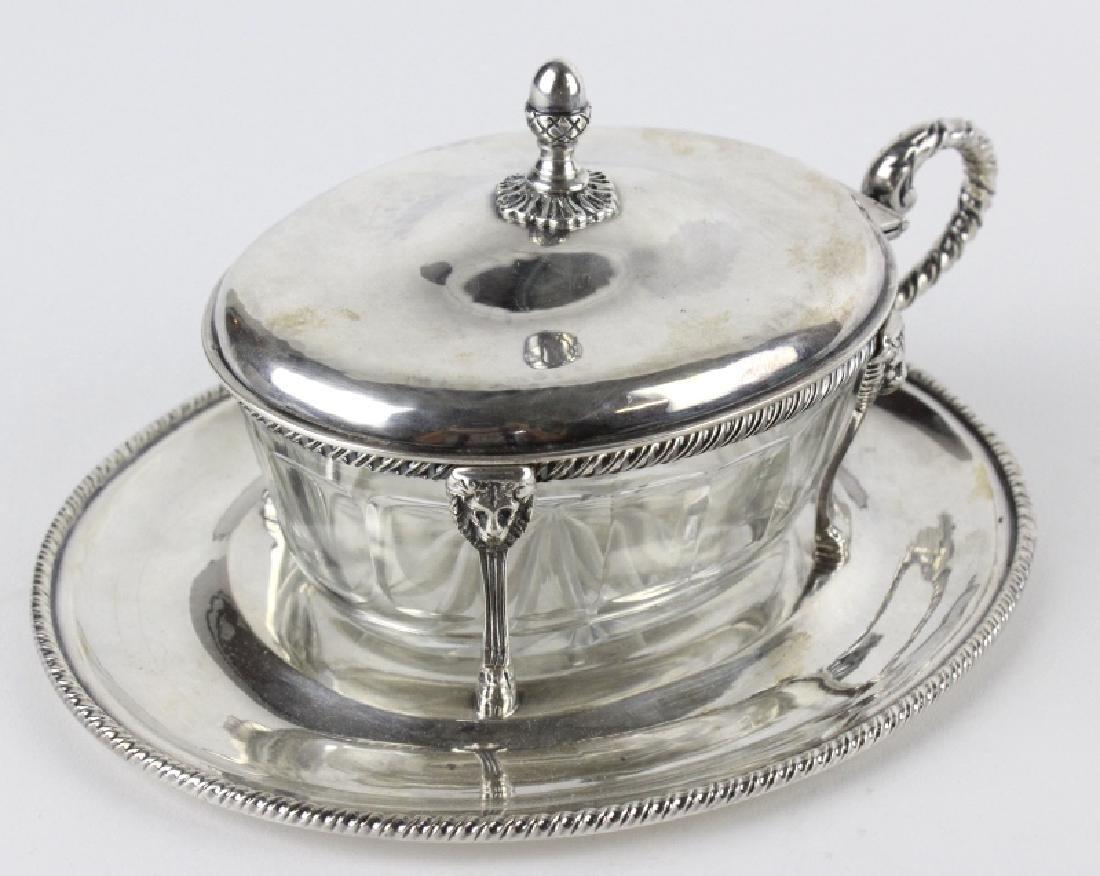 BUCCELLATI Sterling Silver & Crystal Sardine Bowl - 6