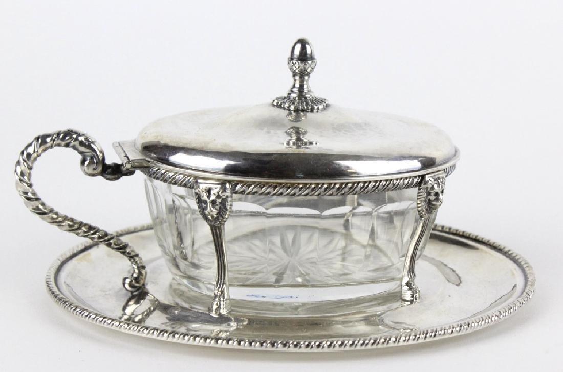 BUCCELLATI Sterling Silver & Crystal Sardine Bowl - 7