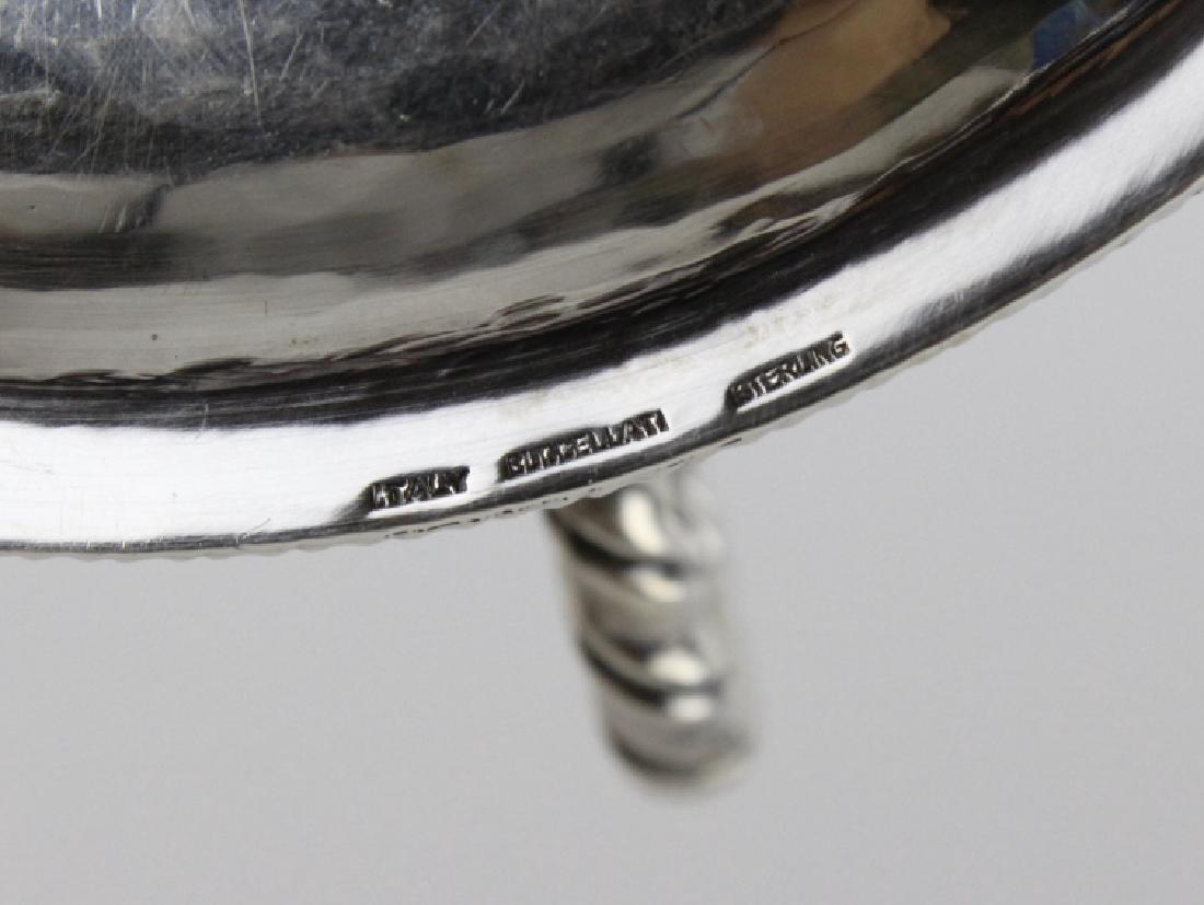 BUCCELLATI Sterling Silver & Crystal Sardine Bowl - 8