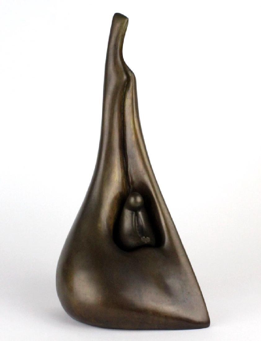 AHARON BEZALEL Mother & Child Bronze Art Sculpture