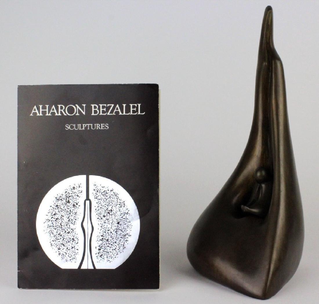 AHARON BEZALEL Mother & Child Bronze Art Sculpture - 2