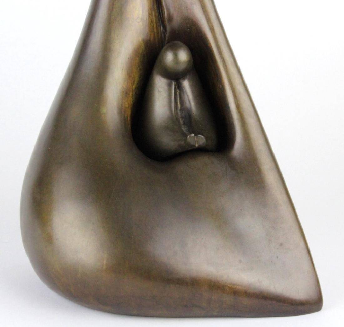 AHARON BEZALEL Mother & Child Bronze Art Sculpture - 3