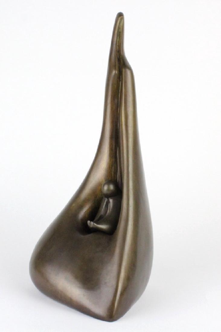 AHARON BEZALEL Mother & Child Bronze Art Sculpture - 5