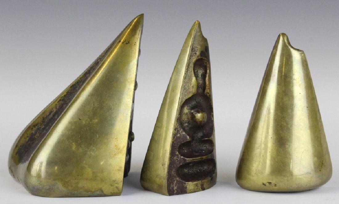 Aharone Bezalel Family Modernist Bronze Sculpture - 3