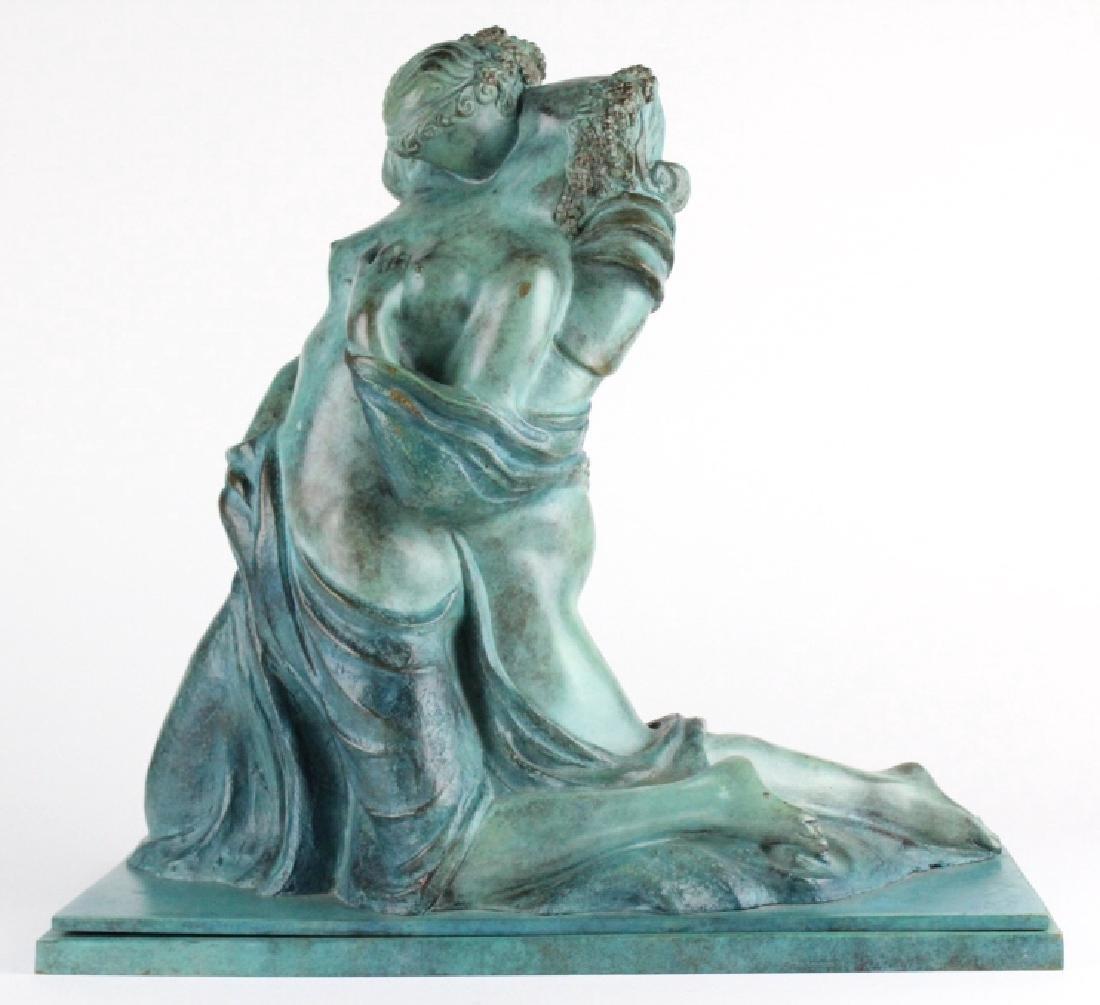 ALBA GONZALES Italian Lovers Cast Bronze Statue - 4