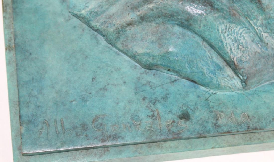 ALBA GONZALES Italian Lovers Cast Bronze Statue - 6