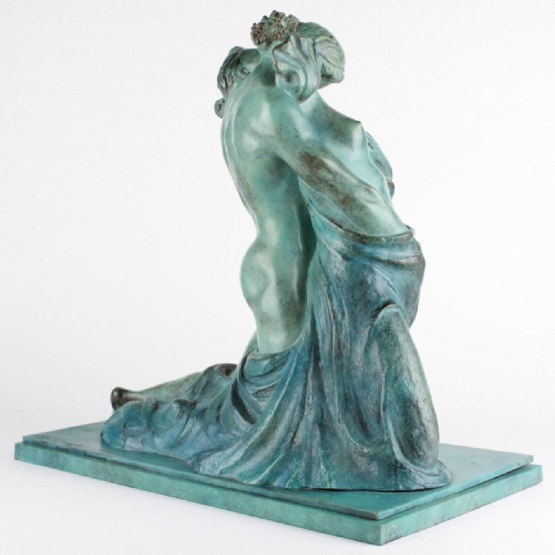 ALBA GONZALES Italian Lovers Cast Bronze Statue - 8